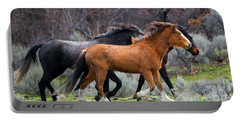 Portable Battery Charger featuring the photograph Wind In The Manes by Mike Dawson