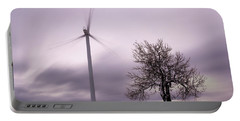 Wind Power Station, Ore Mountains, Czech Republic Portable Battery Charger
