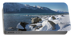 Wind Sculpted Snow By The Chilkat Inlet Portable Battery Charger