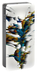 Portable Battery Charger featuring the painting Wind Series 08.072311wscvss by Kris Haas