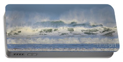 Wind Swept Waves Portable Battery Charger by Nicholas Burningham
