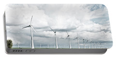 Wind Turbines Landscape Portable Battery Charger