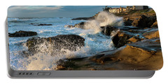 Windansea Beach At High Tide Portable Battery Charger