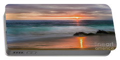 Windansea Beach At Sunset Portable Battery Charger