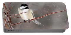 Windblown Chickadee Portable Battery Charger