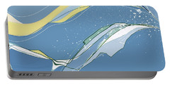 Portable Battery Charger featuring the digital art Windblown by Gina Harrison