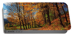 Winding Country Road In Autumn Portable Battery Charger