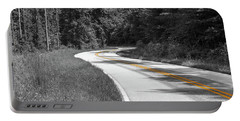 Winding Country Road In Selective Color Portable Battery Charger