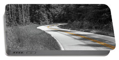 Portable Battery Charger featuring the photograph Winding Country Road In Selective Color by Doug Camara