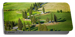 Winding Cypress Lined Road Of Monticchiello Portable Battery Charger