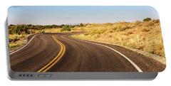 Winding Desert Road At Sunset Portable Battery Charger