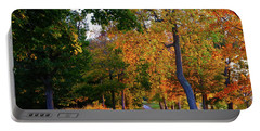 Winding Road In Autumn Portable Battery Charger