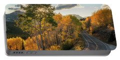 Winding Road Through Big Cottonwood Canyon Portable Battery Charger