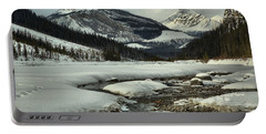 Winding Through The Winter In Banff Portable Battery Charger