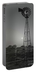 Portable Battery Charger featuring the photograph Windmill At Dawn by Robert Frederick