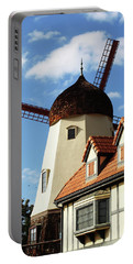 Windmill At Solvang, California Portable Battery Charger