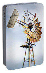 Portable Battery Charger featuring the photograph Windmill In The Sky by Dawn Romine