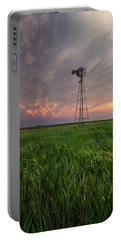 Portable Battery Charger featuring the photograph Windmill Mammatus by Aaron J Groen