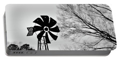 Windmill On The Farm Portable Battery Charger