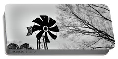 Portable Battery Charger featuring the photograph Windmill On The Farm by Nicole Lloyd