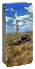 Windmill Over Lenzen Portable Battery Charger