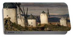 Portable Battery Charger featuring the photograph Windmills Of La Mancha by Heiko Koehrer-Wagner