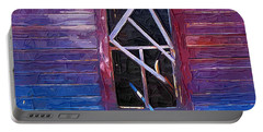 Portable Battery Charger featuring the photograph Window-1 by Susan Kinney