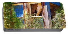 Portable Battery Charger featuring the photograph Window 2 by Susan Kinney