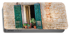 Window Flowers Of Tuscany Portable Battery Charger