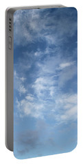 Window On The Sky In Israel During The Winter Portable Battery Charger by Yoel Koskas