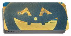 Window Pumpkin #2 Portable Battery Charger