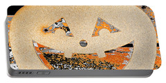 Window Pumpkin #3 Portable Battery Charger