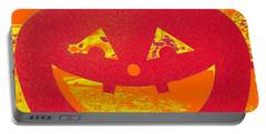 Window Pumpkin #4 Portable Battery Charger