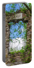 Portable Battery Charger featuring the photograph Window Ruin At Bridgetown Millhouse Bucks County Pa by Bill Cannon