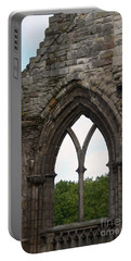 Window Ruins At Holyrood Abbey Portable Battery Charger