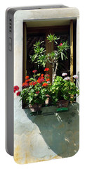 Window With A Tree Portable Battery Charger by Donna Corless