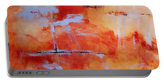 Portable Battery Charger featuring the painting Winds Of Change by M Diane Bonaparte