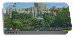 Windsor Castle From The River Thames Portable Battery Charger