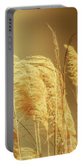 Windswept Autumn Brush Grass Portable Battery Charger