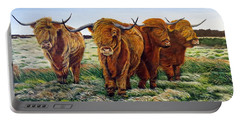 Windswept Highland Cattle  Portable Battery Charger