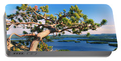 Windswept Pine On Rattlesnake Mountain Portable Battery Charger