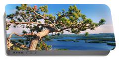 Windswept Pine On Rattlesnake Mountain Portable Battery Charger by Roupen  Baker