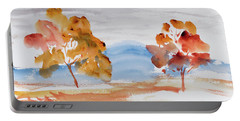 Windy Autumn Colours  Portable Battery Charger