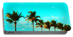Windy Day On N Roosevelt Bld Key West Portable Battery Charger