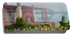 Windy Foggy Golden Gate Bridge  Portable Battery Charger