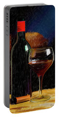 Wine Cellar 01 Portable Battery Charger by Wally Hampton