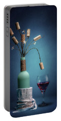 Portable Battery Charger featuring the photograph Wine Cork Bouquet by Tom Mc Nemar