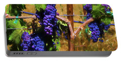 Wine Country  Portable Battery Charger by Kandy Hurley
