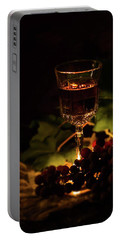 Wine Glass And Grapes Portable Battery Charger