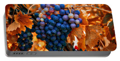 Wine Grapes Of Many Colors Portable Battery Charger by Lynn Hopwood